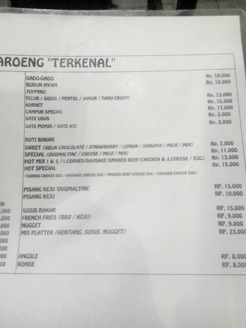 menu kedua