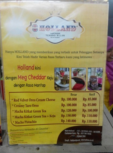 Harga red velvet holland
