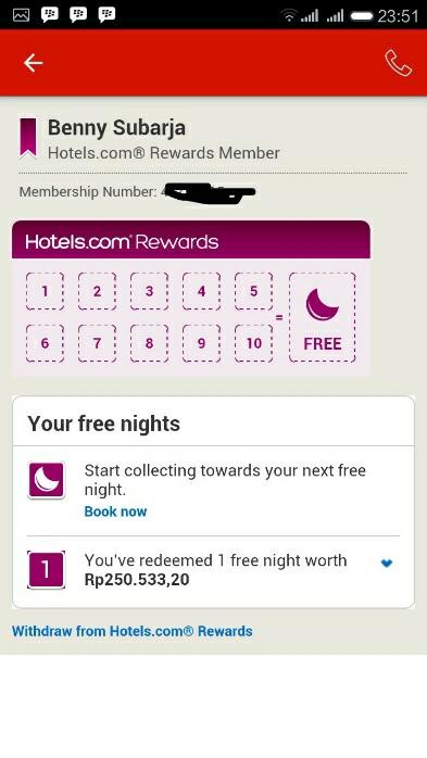 reward free nights hotels.com