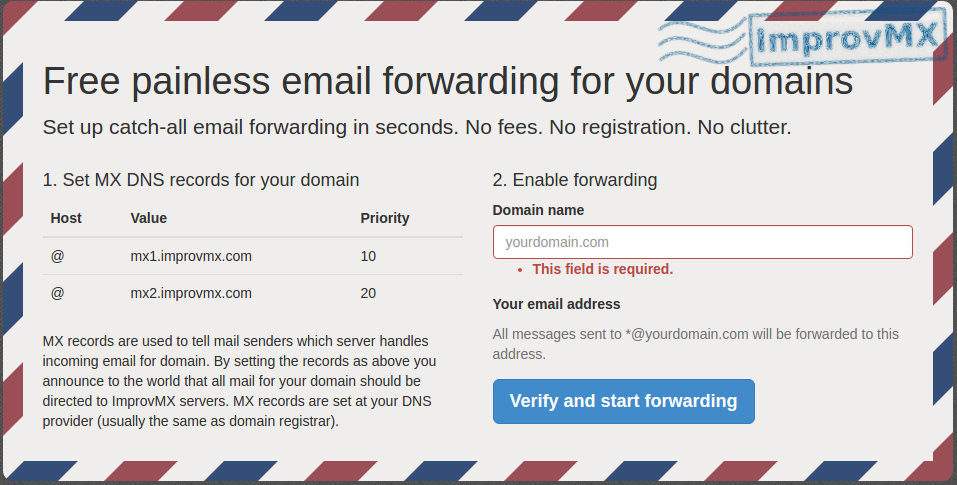 cara mudah forward email custom domain