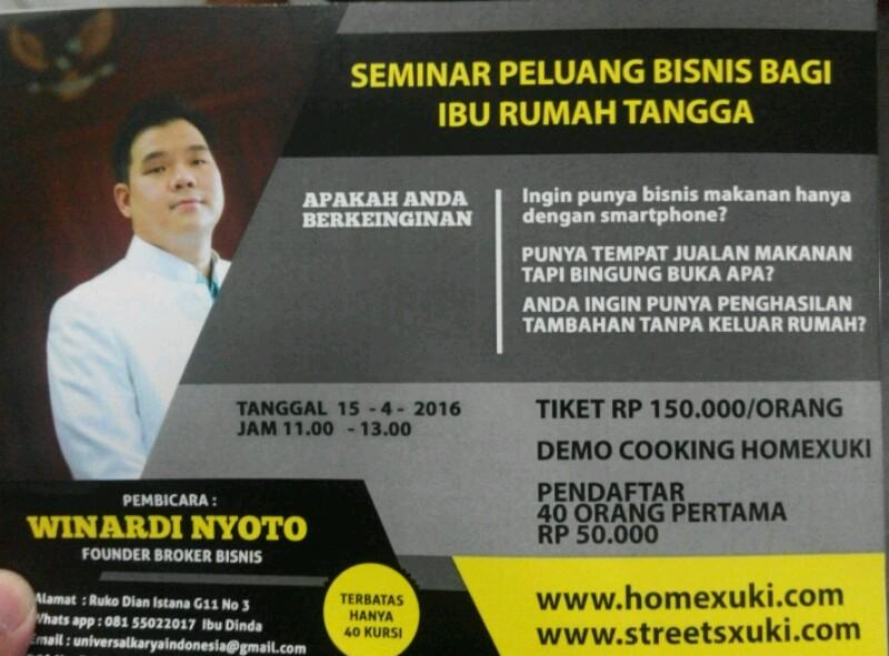 seminar perkenalan bisnis suki