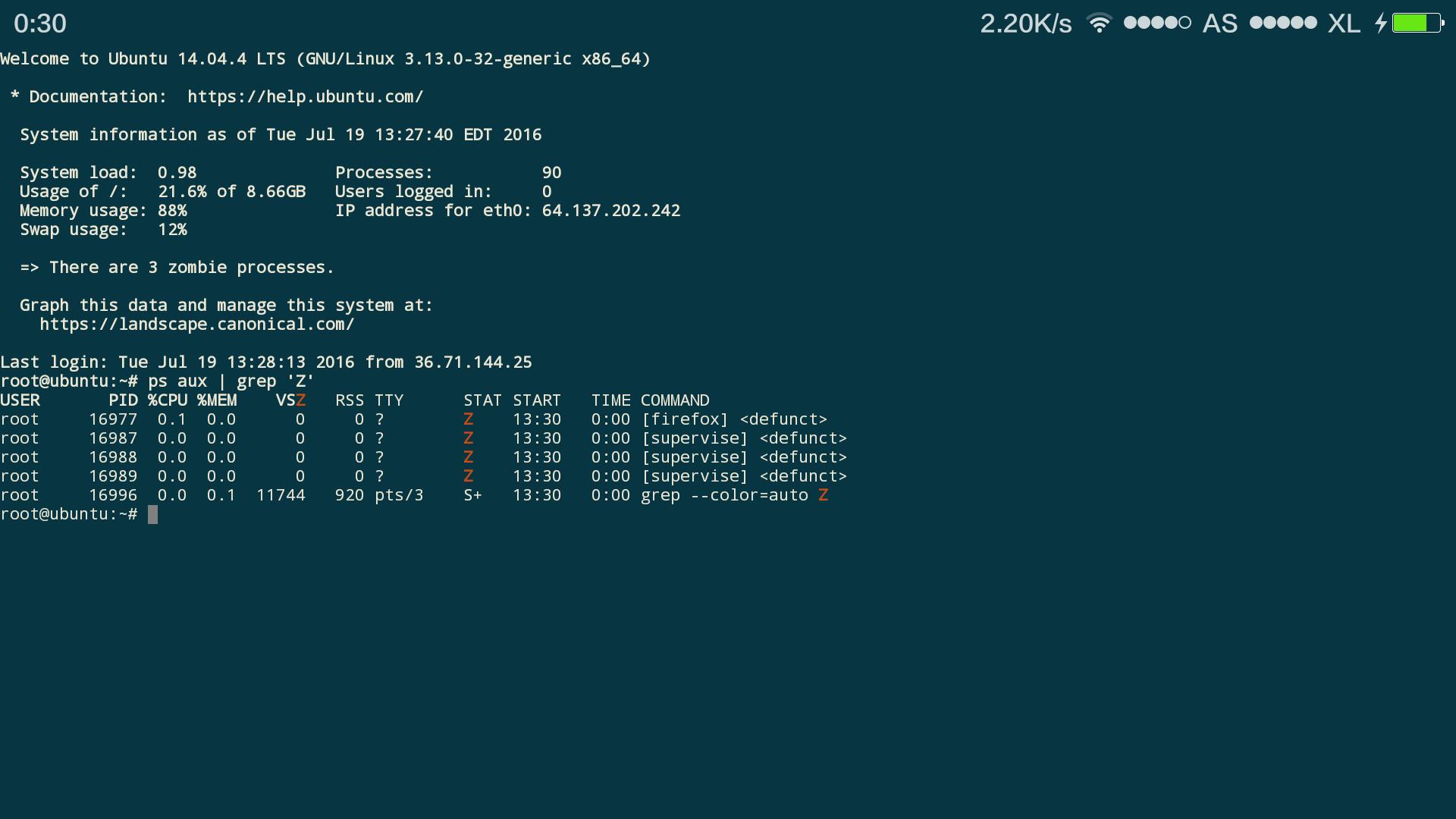 zombie proses ubuntu