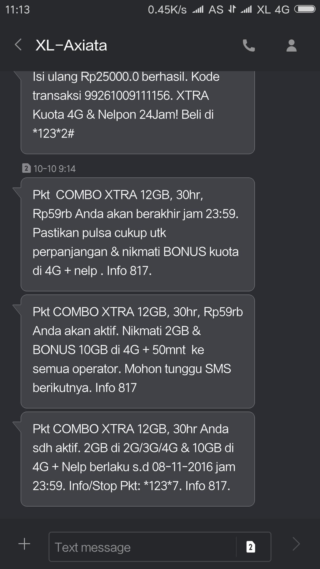 sms perpanjangan